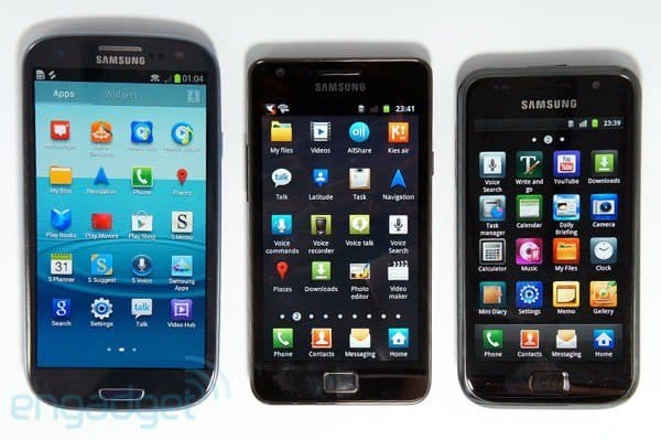 Сравнение Samsung Galaxy S3  VS  Samsung Galaxy S2