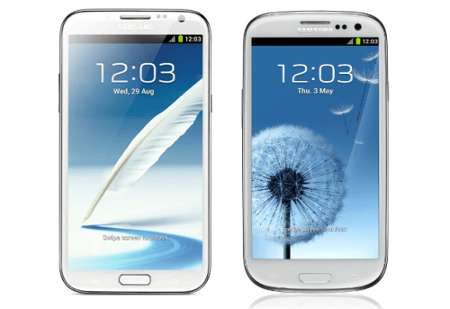 Samsung Galaxy S3 vs Samsung Galaxy Note 2 Видео – Битва Титанов