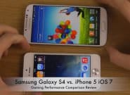 Игровой тест Galaxy S4 vs iPhone 5 (iOS 7) [Видео]