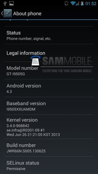 Android 4.3 для Galaxy S4 Google Edition уже готов