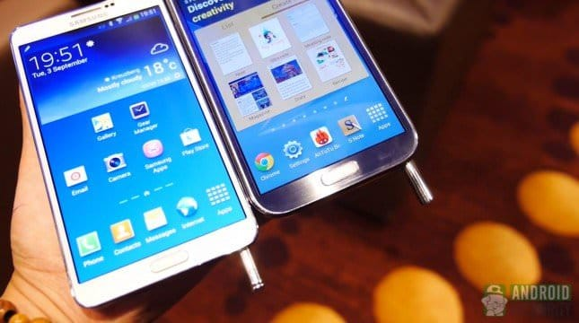 Сравнение Samsung Galaxy Note 3 vs Galaxy Note 2