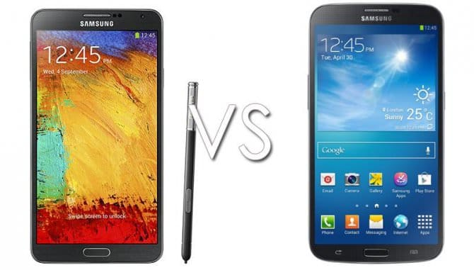 Samsung Galaxy Note 3 vs Samsung Galaxy Mega