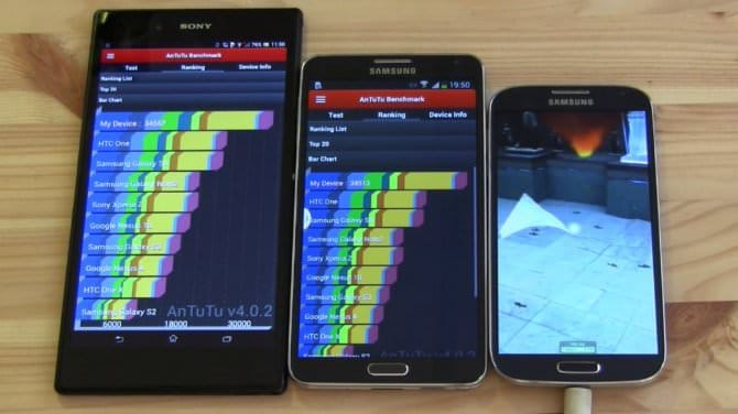Бенчмарки и тестирование Galaxy Note 3 Octa vs Sony Xperia Z Ultra vs Galaxy S4 Octa [Видео]
