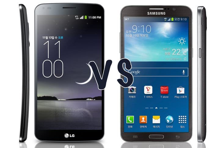 Samsung Galaxy Round vs LG G Flex: в чем разница?