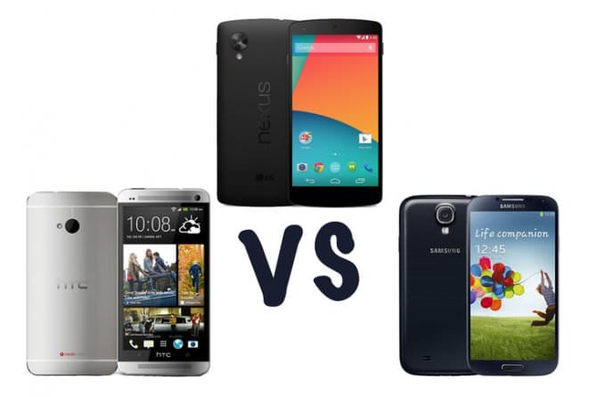 Samsung Galaxy S4 vs Google Nexus 5 vs HTC One: в чем разница?