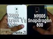 Сравнение Galaxy Note 3 Snapdragon 800 vs. Exynos Octa 5420 (N9005 vs N9000) [Видео]