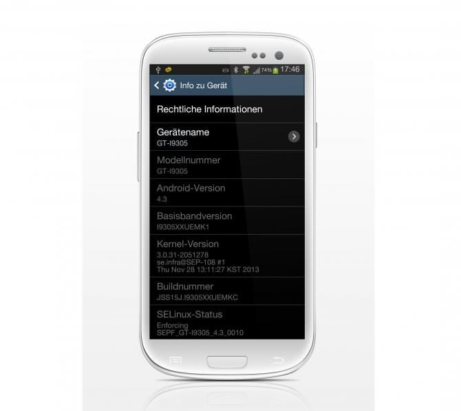 Android 4.3 для Galaxy S3 LTE снова доступен