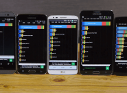 Сравниваем Galaxy S5 vs HTC One (M8) vs Note 3 vs LG G2 в бенчмарке [Видео]