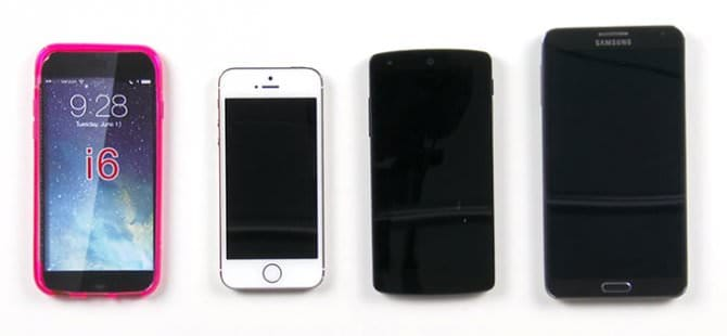 Сравниваем iPhone 6 с iPhone 5s, Nexus 5 и Galaxy Note 3