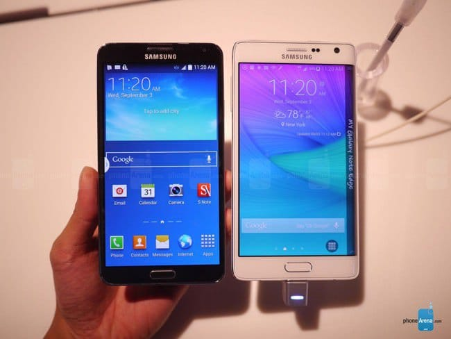 Сравнение Galaxy Note 3 vs Galaxy Note Edge