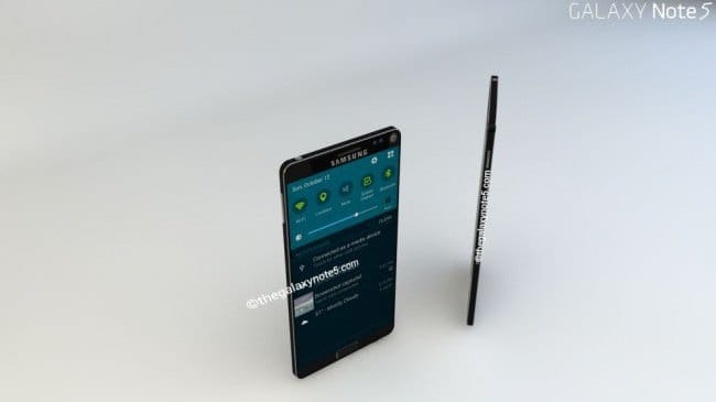 Концепт Samsung Galaxy Note 5 в стиле Galaxy S2/Note 2