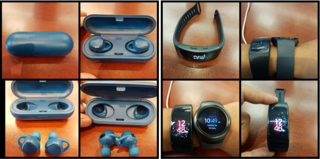 Samsung Gear Fit 2 и Bluetooth-наушники IconX показались на фото