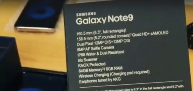 Первая распаковка Samsung Galaxy Note 9 на видео